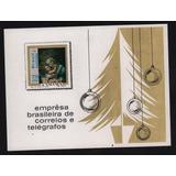 Brasil 1969 Hojita Souvenir Navidad Arte Nuevas