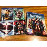 Colección Bluray Dc Original Mujer Maravilla, Superman, Liga