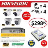 Kit 4 6 8 10 16 Camaras Seguridad Hikvision 1080p Dvr
