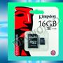 Memoria Micro Sd 16gb Kingston Clase 10 Tarjeta Original