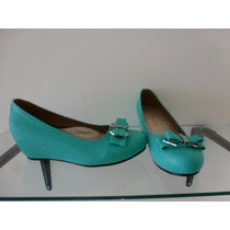 Hermosos Zapatos Menta-verde