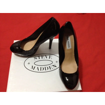 Remato Zapatos Steve Madden Mujer Taco Pumps 36.5 Negros 6.5