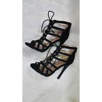 Zapatos Taco Negros De Moda 7 1/2