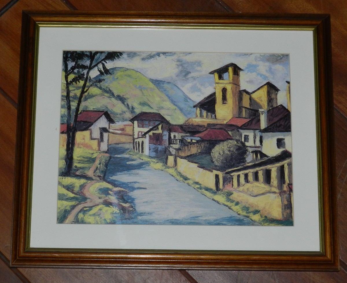 Cuadro pintura pueblito u s 24 99 en mercadolibre - Cuadros de pintura ...