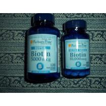 Biotina De 10000 Y 5000 Mcg Para El Cabello Uñas Y Piel