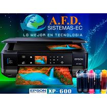 Impresora Epson Xp 600 Con Sistema De Tinta Continua