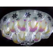 Lampara Cristal Led / Grande/ Control Remoto /800mm Diametro