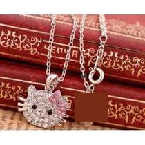 Hello Kitty Collar Con Rostro Cristal