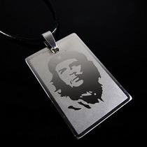 Collar Con Dije Placa Che Guevara Acero Hipoalergenico