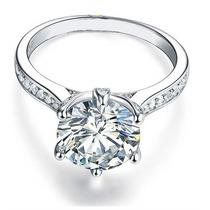Anillo De Compromiso De Plata Sterlina 925 Con Diamante Real