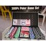 Maletín Fichas Poker 300 Fichas Kit Portable Profesional