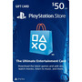 Tarjeta Prepago $50, Playstation Store Gift Card