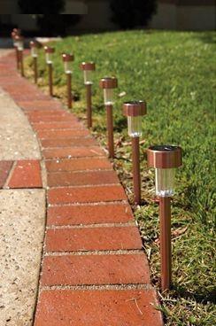 Luz solar decoracion 10 focos jardin patio arquitecto for Focos jardin