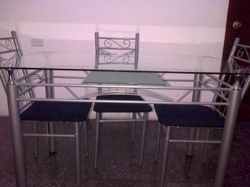 Mesa de comedor vidrio para 4 personas u s 500 00 en - Vidrios para mesas de comedor ...