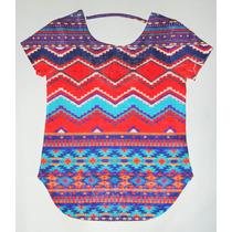Blusa Tejida Multicolor.