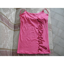 Camiseta Aeropostale Rosada Large Tiras Lentejuelas ( 876 )