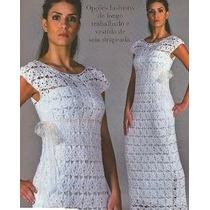 Vestido Elegante Blanco Tejido A Mano