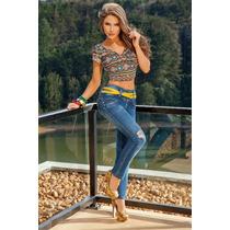 Jeans Colombianos Levanta Cola De Mujer Seven7