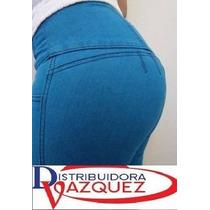 Jeans Levanta Cola Importados Super Altos 4 Y 5 Botones.