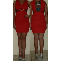 Vestido Rojo Con Cadenita Americano Para Fiesta