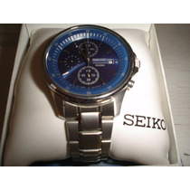 Seiko 3 Cronografos Azul Nuevo Exclusivo Barato