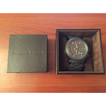 Vendo Reloj Michael Kors Gris Correa Metal Y Plastico