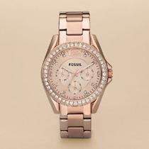 Reloj Fossil Dama Es2811 100% Original, Dorado Rosa