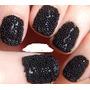 Uñas 3d Caviar Negras Largas Claire