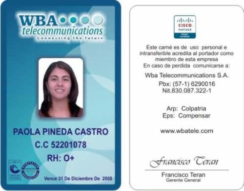 crear credenciales de identificacion unifeed club