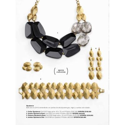 La tendencia Opulencia Oro  Negro llega para proponer elegantes tonos en un estilo exuberante y glamoroso. Disfrútala esta temporada y comparte con todas