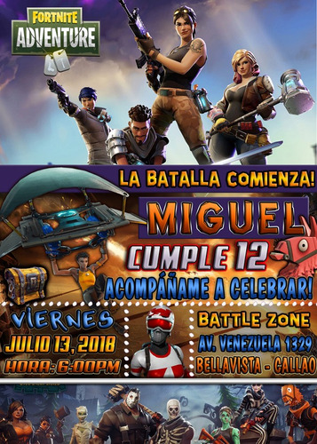 Tarjeta Invitación Digital Fortnite Battle Royale En Venta