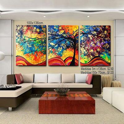 Cuadros pinturas florales y abstractos para decorar su - Precio pintar habitacion ...