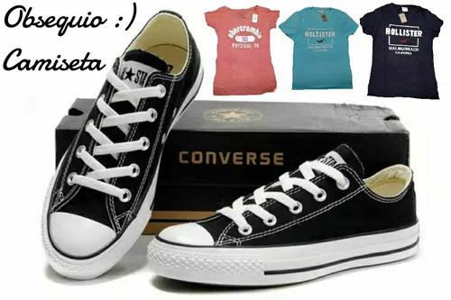 Tenis Zapatillas Converse + Obsequio Camiseta + Caja en
