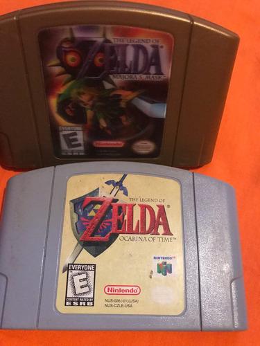 Juegos Nintendo 64 Zelda Ocarina Y Majoras En Venta En Por Solo U S