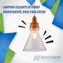 Lampara Colgante De Vidrio Transparente, Ideal Para Cocina. | NOVICOMPU-QUITO